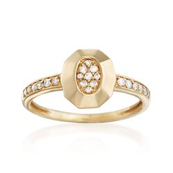 .18 ct. t.w. Diamond Geometric Oval Ring in 14kt Yellow Gold, , default