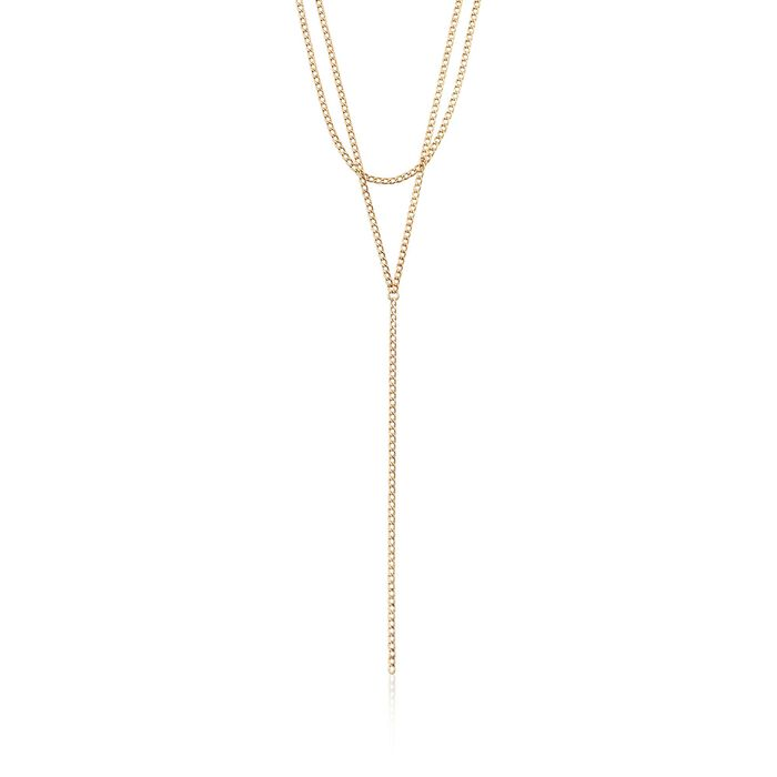 Italian 18kt Yellow Gold Double-Strand Y-Necklace, , default