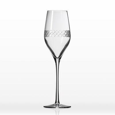 "Rolf Glass ""Diamond"" Set of 4 Flute Glasses"