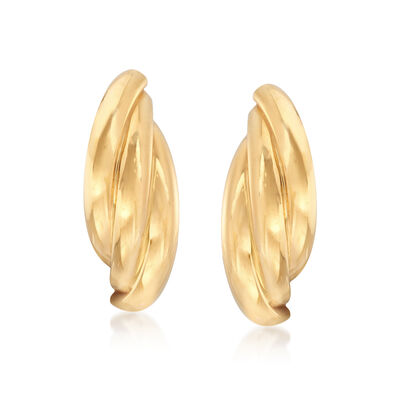 22kt Yellow Gold Triple-Curve Earrings, , default
