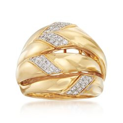 .34 ct. t.w. Diamond Four-Row Ring in 18kt Yellow Gold, , default