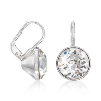 """Swarovski Crystal """"Bella Mini"""" Drop Earrings in Silvertone, , default"""