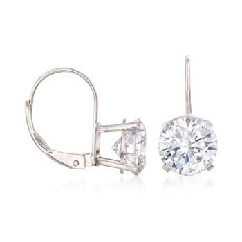 4.00 ct. t.w. CZ Drop Earrings in 14kt White Gold, , default