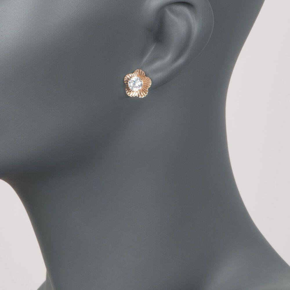 14kt Yellow Gold Flower Earring Jackets Ross Simons
