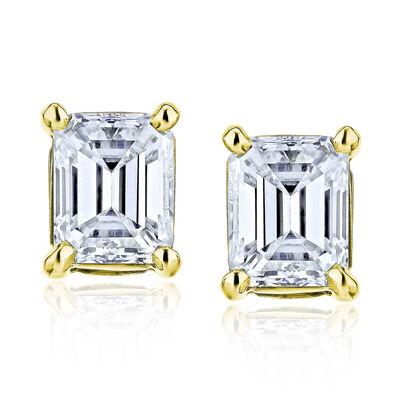 .95 ct. t.w. Diamond Stud Earrings in 14kt Yellow Gold, , default