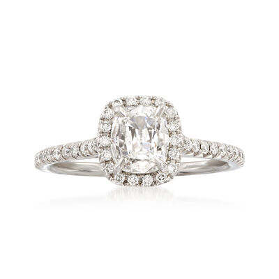 Henri Daussi .99 ct. t.w. Diamond Engagement Ring in 18kt White Gold, , default