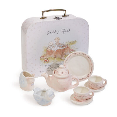 "Bunnies by the Bay ""Pretty Girl"" 8-pc. Ceramic Tea Set, , default"