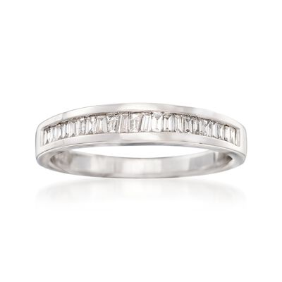 .23 ct. t.w. Baguette Diamond Ring in 14kt White Gold