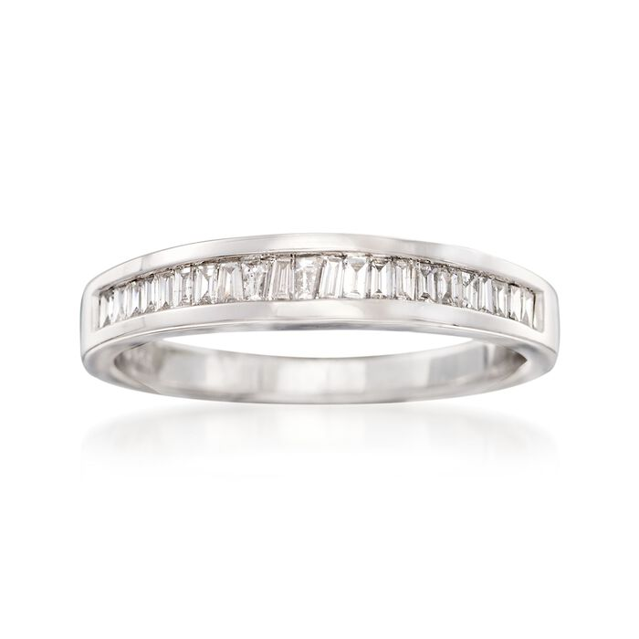.23 ct. t.w. Baguette Diamond Ring in 14kt White Gold