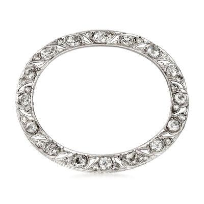 C. 1940 Vintage 2.05 ct. t.w. Diamond Oval Pin in Platinum, , default