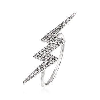 .29 ct. t.w. Diamond Lightning Bolt Ring in 14kt White Gold