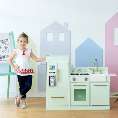 Child's Little Chef Chelsea Modern Play Kitchen in Mint
