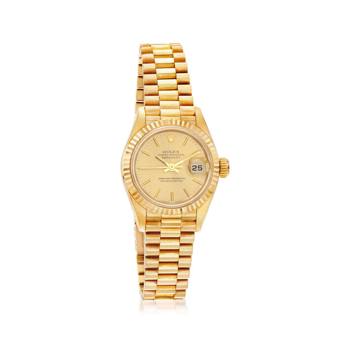 Pre-Owned Rolex Datejust Women's 26mm Automatic 18kt Yellow Gold Watch
