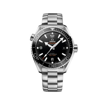 Omega Seamaster Planet Ocean Men's 43.5mm Stainless Steel Watch with Black Dial, , default
