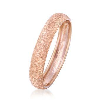 Italian 14kt Rose Gold Textured Ring