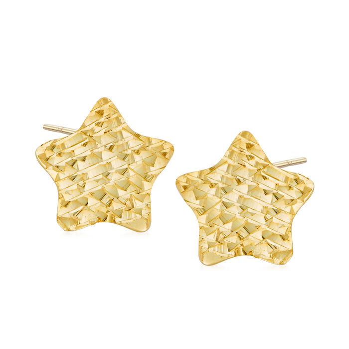 Italian 14kt Yellow Gold Star Stud Earrings