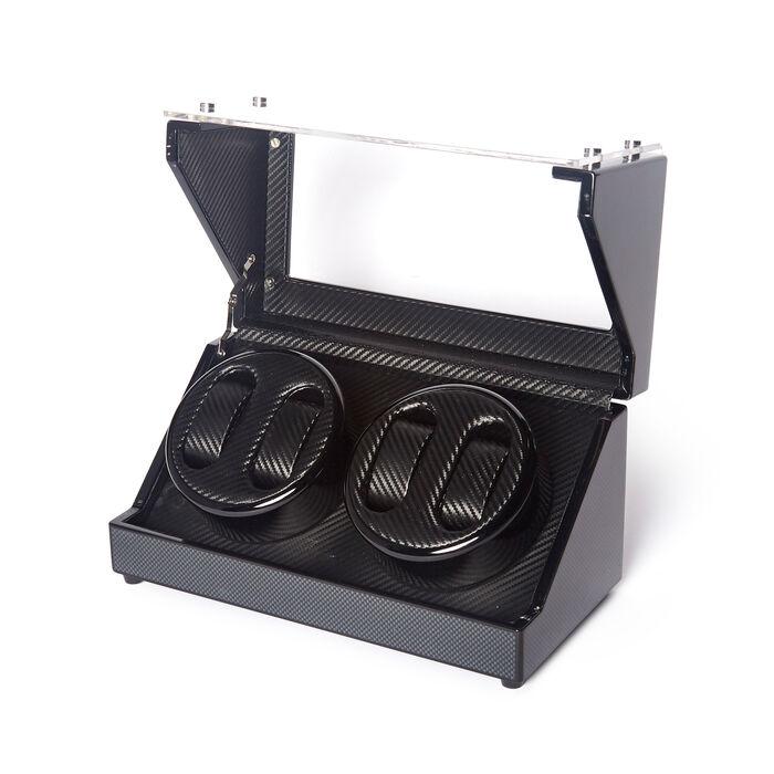 Brouk & Co. Black Carbon Fiber 4-Watch Winder, , default