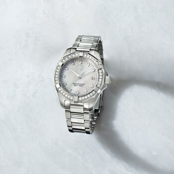 TAG Heuer Aquaracer Women's 32mm .62 ct. t.w. Diamond Watch in Stainless Steel, , default