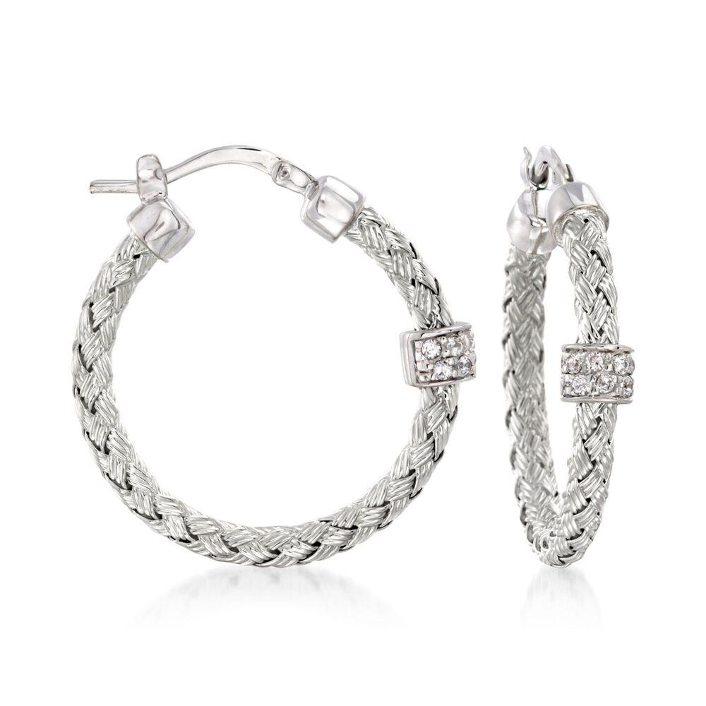 Charles Garnier Torino 20 Ct T W Cz Small Hoop Earrings In