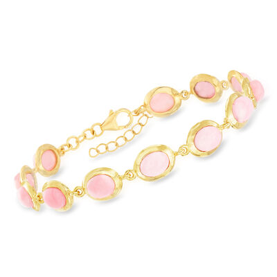 Pink Opal Bracelet in 18kt Gold Over Sterling, , default