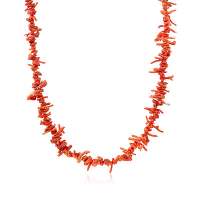 C. 1970 Vintage Red Coral Necklace