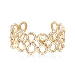14kt Yellow Gold Infinity Single Ear Cuff, , default