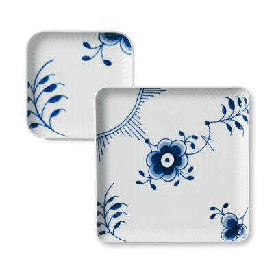 "Royal Copenhagen ""Blue Fluted Mega"" Porcelain Square Plate"