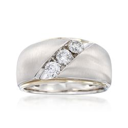 Men's .75 ct. t.w. Channel-Set Diamond Ring in 14kt White Gold, , default