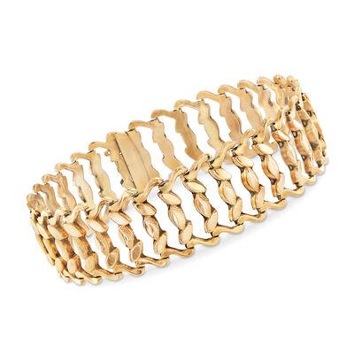 C. 1950 Vintage 18kt Yellow Gold Link Bracelet, , default