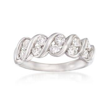 1.00 ct. t.w. Diamond Spiral Ring in 14kt White Gold, , default