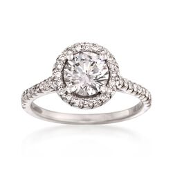 1.36 ct. t.w. Certified Diamond Engagement Ring in Platinum, , default