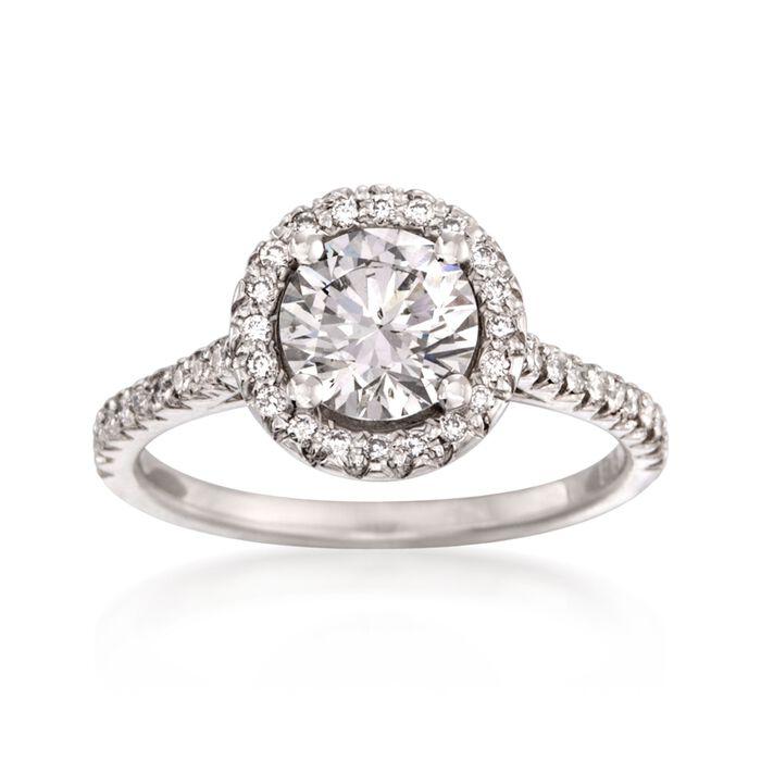1.36 ct. t.w. Certified Diamond Engagement Ring in Platinum, , default