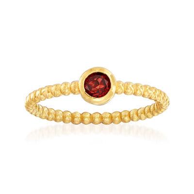"Phillip Gavriel ""Popcorn"" .30 Carat Garnet Beaded Ring in 14kt Yellow Gold, , default"