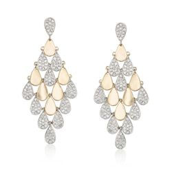 3.00 ct. t.w. Diamond Chandelier Earrings in 18kt Yellow Gold , , default