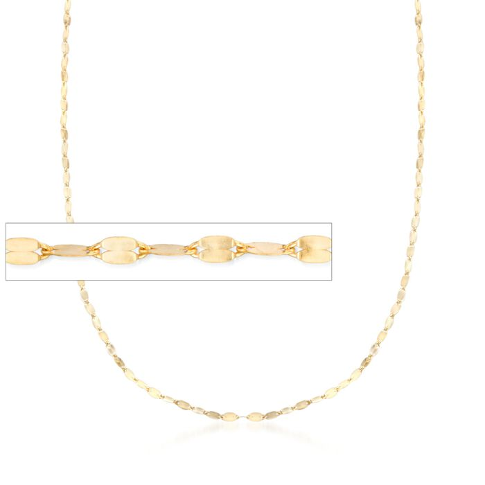 Italian 1.5mm 14kt Yellow Gold Adjustable Slider Lumachina Chain Necklace