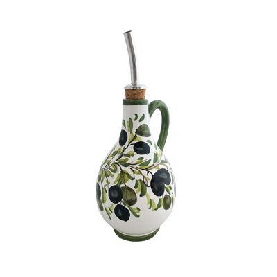 """Abbiamo Tutto """"Classic Olive"""" Ceramic Oil Cruet from Italy"""