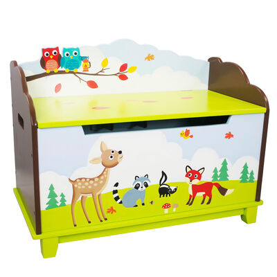 "Child's ""Enchanted Woodlands"" Wooden Toy Chest"