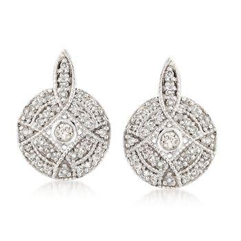 .25 ct. t.w. Diamond Circle Earrings in Sterling Silver, , default