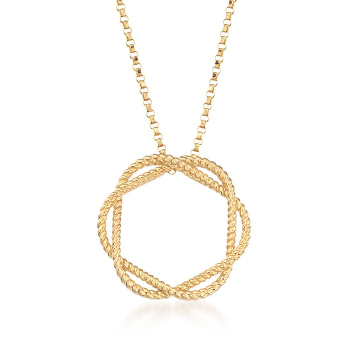 "Roberto Coin ""Barocco"" Circle Pendant Necklace in 18kt Yellow Gold. 18"", , default"