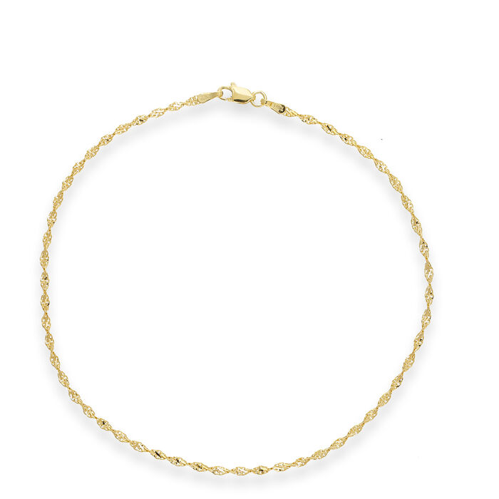 14kt Yellow Gold Dorica Chain Anklet