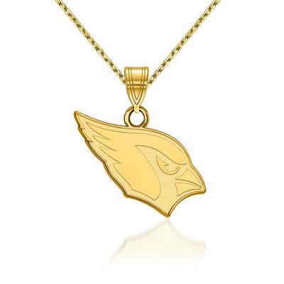 """14kt Yellow Gold NFL Arizona Cardinals Pendant Necklace. 18"""""""