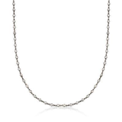 C. 2000 Vintage 1.35 ct. t.w. Diamond Necklace in Platinum, , default