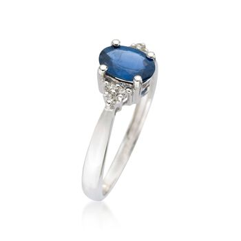 .60 Carat Sapphire Ring with Diamond Accents in 14kt White Gold