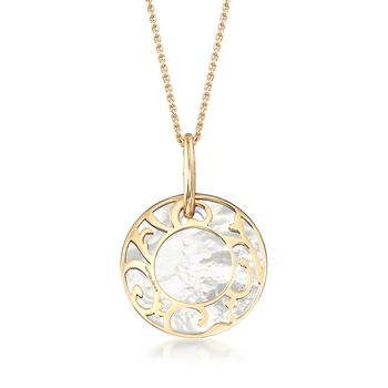 """Mattioli """"Siriana"""" 18kt Yellow Gold Pendant Necklace with Three Interchangeable Pendants: 18kt Gold and Multi-Stone. 16.75"""", , default"""