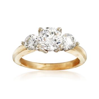 C. 2000 Vintage 2.00 ct. t.w. Diamond Engagement Ring in 14kt Yellow Gold. Size 6, , default