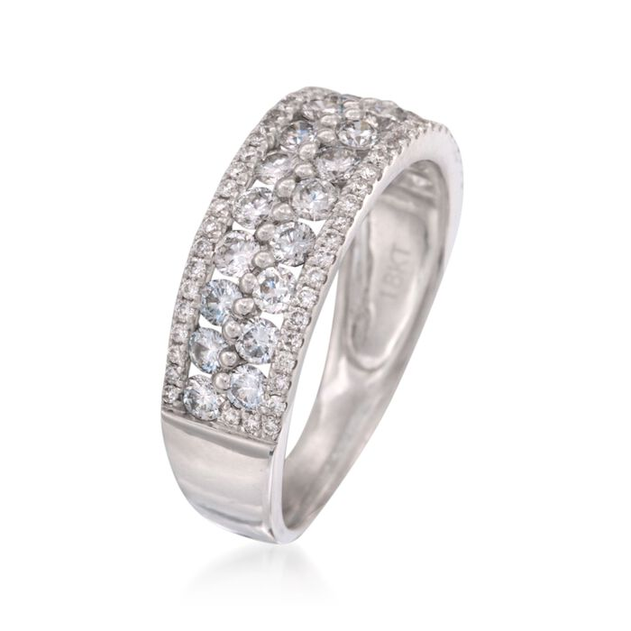 1.31 ct. t.w. Diamond Wedding Ring in 18kt White Gold