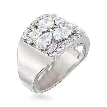 5.10 ct. t.w. Multi-Cut CZ Ring in Sterling Silver, , default