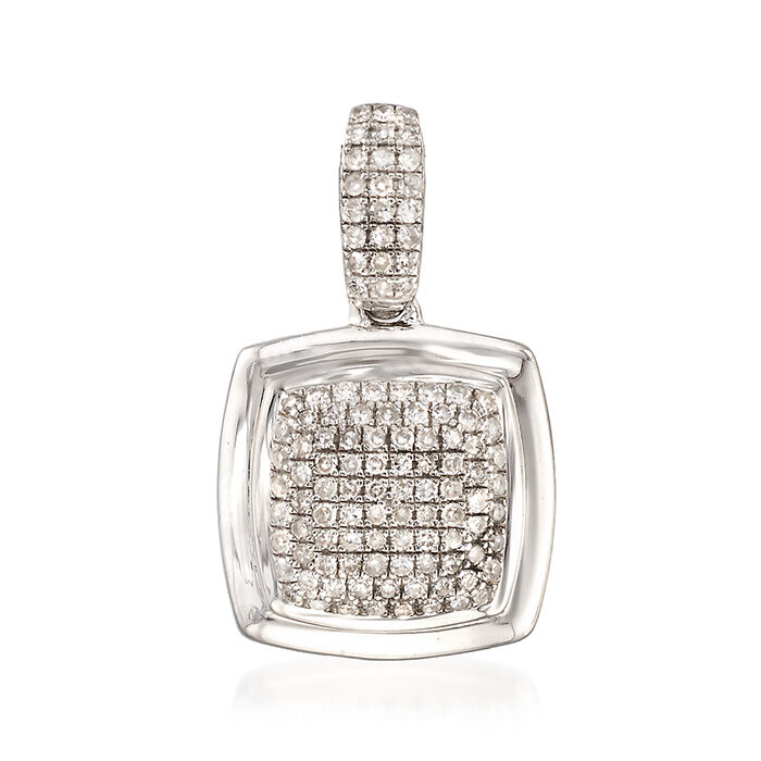.33 ct. t.w. Diamond Square Pendant in Sterling Silver, , default