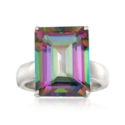 15.00 Carat Mystic Topaz Ring in Sterling Silver, , default