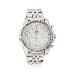 Breitling Bentley 6.75 Speed Men's 49mm Auto Chronograph Stainless Steel Watch - Silver Dial, , default
